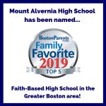 La Escuela Secundaria Mount Alvernia fue nombrada una de las 5 mejores escuelas secundarias basadas en la fe por Boston Parents Paper